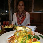 Chilli crab in front