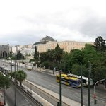 View of the House of Parliament. If you need to know how far, the exit from Syntagma train stati