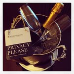 complimentary champagne in our room