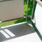 Rusty, mildewy rear balcony didn't feel safe to sit on