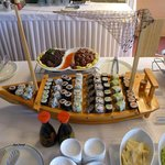 Sushi on a boat