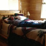 All that fishing wears a guy out. Comfy beds in the cabins.