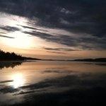 Beautiful sunrise over Gunflint Lake at Cross River Lodge