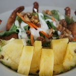 Coconut prawn and pineapple salad