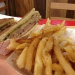 the cracker Cuban with homemade fries