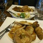 mains: turkey roast (front) beef roast (back)