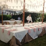 Tented Event in the Kitchen Garden