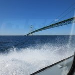 Under the Mackinac Bridge on Shepler's Ferry