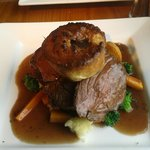 Main course (Welsh) Roast Beef & the trimmings
