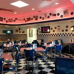 Typical diner atmosphere