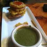 Tostones - great sauces on this plate!