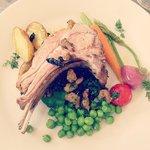 Herb crusted roast lamb