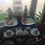 Breakfast served at our room