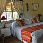 Unser Zimmer - typisch afrikanisch dekoriert