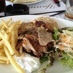 Delicious pork Gyros