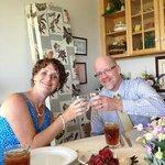 Enjoying another fantastic dinner at Whitestone!