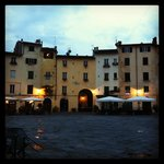 In the main piazza in Lucca