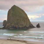 Haystack Rock from our balcony