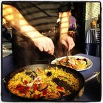 Paella being served!!