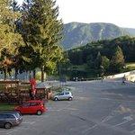 Blick aus dem Hotel auf den See (Morgenansicht)