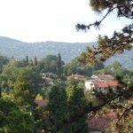 Вид с балкона в сторону гор