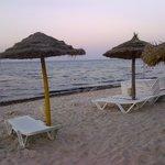 beach on the evening