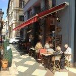 Café Vian Bisztró's terrace on Hercegprímás street