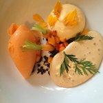 Carrot sorbet etc. - dessert!