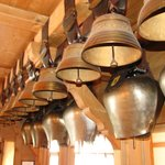Fine collection of bells forms part of the decor