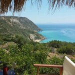 Sesto hill top bar at Koroni beach unforgettable