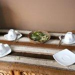 Coca tea in the breakfast room
