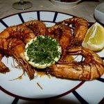Yummy large grilled shrimp