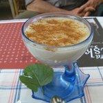 Comfort food: rice pudding for dessert