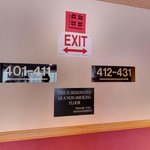 Notice nonsmoking sign on 4th floor