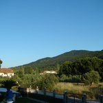 Вид из отеля на горы