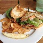 Crab sandwich; eh-ish & salty in a bad way.