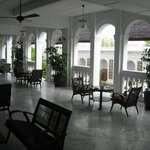 hotel courtyard and veranda