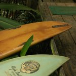 Surfboards for hire!