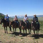 Enjoying our ride at Rusty Spurr Ranch