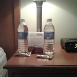 I loved the complimentary water and cookie treats