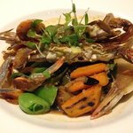 grilled soft shell crab is tasty