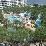 View of pool area and Bay from Sandpiper Penthouse