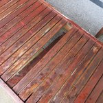 Rotted wooden deck chair