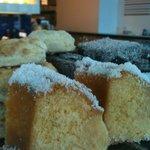 cakes, scones, jam filled lamingtons