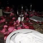 Mesa cena romantica.