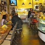 Inside the small Bar Osteria Bacacio