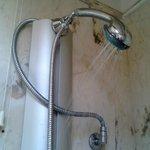 так работал душ в номере