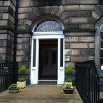 Front door to foyer