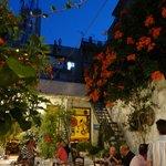 the garden of the restaurant