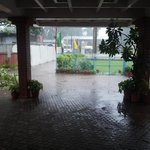 View from the reception area - post rains
